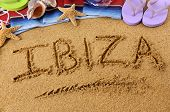 Ibiza Beach Writing