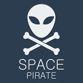 Vector space pirate poster.