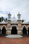 Main entrance of Kuala Lumpur Jamek Mosque in Malaysia