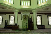 Interior Kuala Lumpur Jamek Mosque in Malaysia