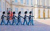Denmark. Copenhagen. Changing of the Royal Guard