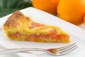 tart with orange marmalade