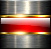 Abstract background glossy and shiny red metallic, vector illustration.