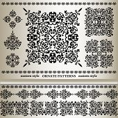 Set Of Ornate Patterns In Eastern Styl