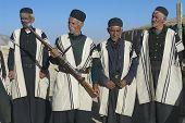 Men wear traditional dresses circa Isfahan, Iran.