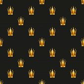 Universal vector seamless patterns tiling. Royal queen princess.