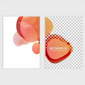 Flyer template header design circles.