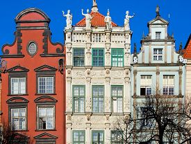 stock photo of tenement  - Colorful houses  - JPG