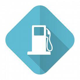 image of petrol  - petrol flat icon gas station sign - JPG