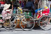 stock photo of rickshaw  - NONTHABURI PROVINCE - JPG