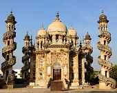 stock photo of catacombs  - Mausoleum of the Wazir of Junagadh in Gujarat state in India - JPG