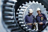 stock photo of mechanical engineering  - engineers - JPG