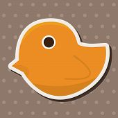 foto of baby duck  - Baby Toy Duck Theme Elements - JPG