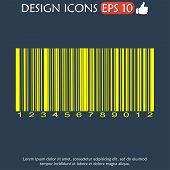 foto of barcode  - Barcode icon vector illustration - JPG
