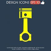 picture of piston-rod  - Piston icon - JPG