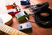foto of stomp  - Setting up guitar audio processing effects - JPG