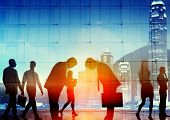 stock photo of respect  - Japanese Culture Respect Business People Corporate Concept - JPG