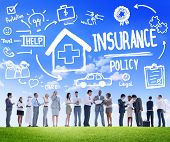 stock photo of policy  - Diversity Business People Insurance Policy Discussion Working Concept - JPG