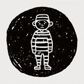 foto of jail  - Jail Doodle - JPG
