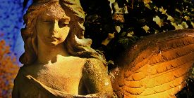 stock photo of christmas angel  - angel as a symbol of faith kindness and love - JPG
