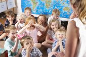 picture of nursery school child  - Montessori - JPG