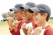 picture of hitter  - Young Boys In Baseball Team - JPG