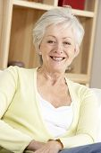 pic of beautiful senior woman  - Portrait Of Senior Woman At Home - JPG