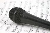 Microphone On Sheet Music