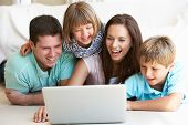 stock photo of computer-screen  - Young parents - JPG