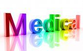Digital illustration of medical in white background