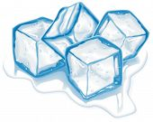 stock photo of ice cube  - Four vector ice cubes - JPG