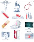 stock photo of obstetric  - Medical equipment icon set - JPG