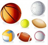 Vector detailed sport equipment icon set