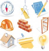 Raster version of architecture detailed icon set