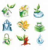 Vector cartoon style icon set. Part 20. Ecology