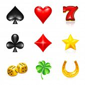 Gambling And Luck, icon set