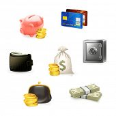 foto of money stack  - Money Icon Set - JPG