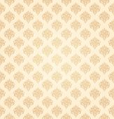 Yellow seamless wallpaper pattern, vector