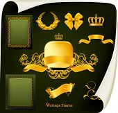 stock photo of gobelin  - Vintage design elements - JPG