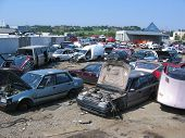At A Scrapyard