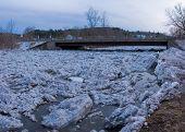 Montpelier, Vermont Ice Debris Dam, Winooski River