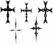 Vector Celtic Crosses