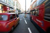 Traffic On Oxford Street In London