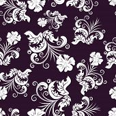 Floral seamless background for yours design use. For easy making seamless pattern just drag all grou