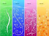 Set of four seasonal banners