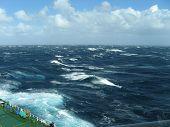 Stormy seas in Southern Ocean