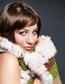 beautiful girl with winter-scarf