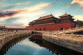 Forbidden City In Beijing ,china. Forbidden City Is A Palace Complex And Famous Destination In Centr poster