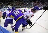 Hóquei no gelo. Ucrânia vs Grã-Bretanha