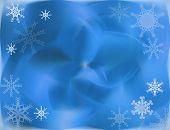 Blue Fuzzy Snowflakes